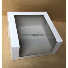 Коробка для торта 225х225х110, белая