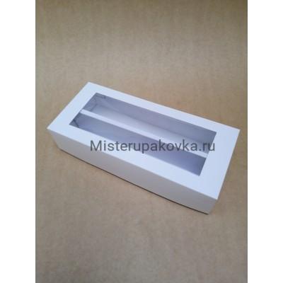 Коробка универсальная 270x120x60, с разделителем, белая с окном