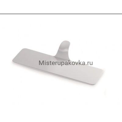 Подложка с держателем, пластик. 130*38мм, белая (10 штук)