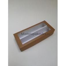 Коробка универсальная 270x120x60, с разделителем , крафт с окном