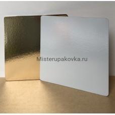 Подложка 250x250, толщина 3,2 золото/белая