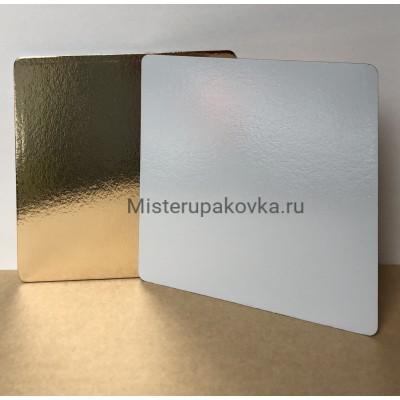 Подложка 400х300, толщина 3,2 золото/белая