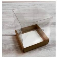 Коробка комбинированная 145х145х175 Крафт/Белая