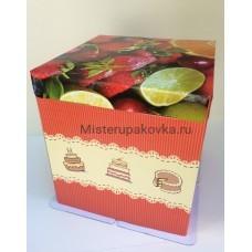 """Коробка для торта 420х420х450, """"Фрукты"""""""