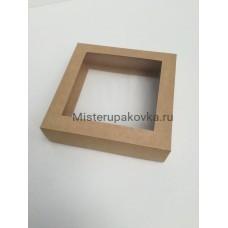 Коробка универсальная 150х150х40, крафт