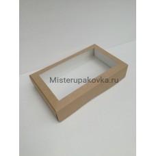 Коробка под пирожные 250х150х50, крафт