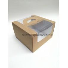 Коробка для тортов 250х250х160, крафт
