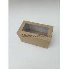 Коробка под 2 капкейка Крафт