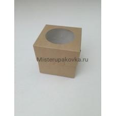Коробка под 1 капкейк Крафт