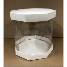 Коробка комбинированная Цилиндр, 200х200, белый (фасовка 5 шт.)