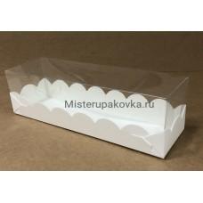 Коробка  для макарон 190х55х55, белая
