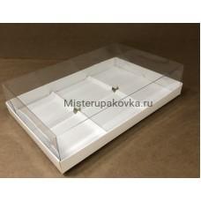 Коробка для пирожных 260х170х80, с разделителями (фасовка 5 шт.)