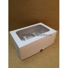 Коробка под 6 капкейков, белая