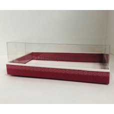 Коробка под пирожные 220х135х70, Малина