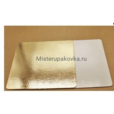 Подложка 250х250, толщина 0,8 мм золото/белый