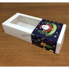 Обечайка-открытка для коробки 270*120*60, Новогодняя