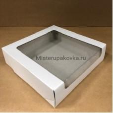 Коробка для торта 225х225х60, белая