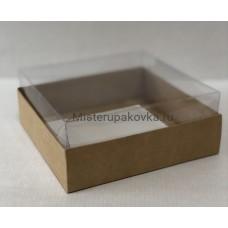 Коробка комбинированная 145х145х60, крафт (фасовка 5 шт.)