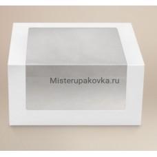 Коробка для торта 180х180х100мм, белый