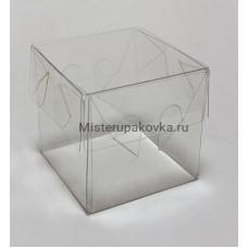 Коробка под 1 макарон 55х55х55мм, прозрачная