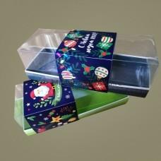 Обечайка открытка для коробки 262х97х80, Новогодняя