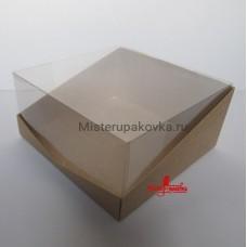 Коробка для тортов 236х236х120, крафт (фасовка 5 шт.)